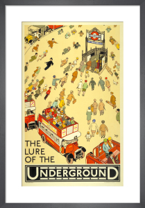The Lure of the Underground, 1927 by Alfred Leete