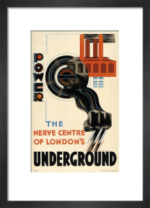 Power - the nerve centre of London's Underground, 1931 by Edward McKnight Kauffer
