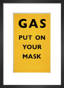 Gas - Put on your mask, 1941 by Unknown artist