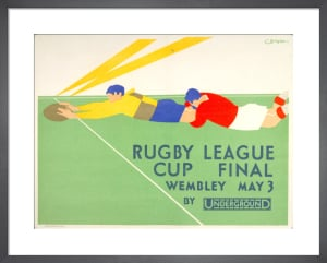 Rugby League Cup Final, 1930 by Charles Burton