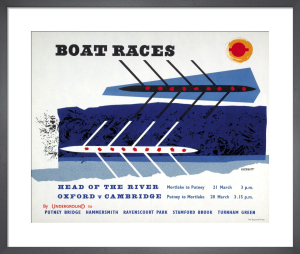 Boat races, 1959 by Anne Hickmott
