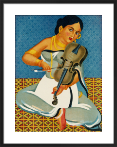 A courtesan with a violin, 1930 by Unknown artist