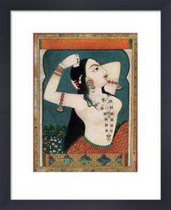 A bejewelled lady, c.1800 by Unknown artist