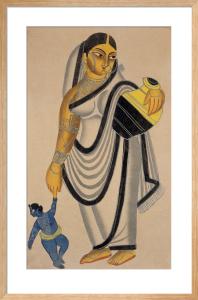 Yasoda taking Krishna for a walk, c.1890 by Unknown artist