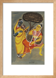 Krishna and Radha, c.1885 by Unknown artist