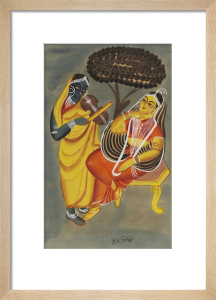 Krishna and Radha, c.1885 by Unknown artist