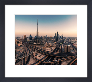 Dubai Skyline Panorama by Jean Claude Castor