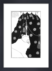 Self-portrait in bed by Aubrey Beardsley