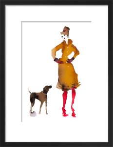 What to Wear When Walking the Dogs - Red Boots by Bridget Davies