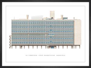 Le Corbusier - Unite d'Habitation, Marseille by Le Corbusier