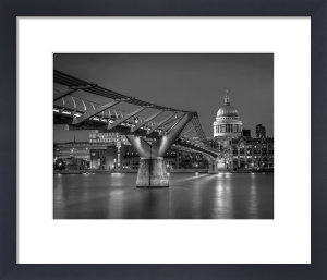 Millennium Bridge and St Paul's by Assaf Frank