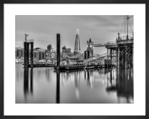Calm River and the Shard by Assaf Frank