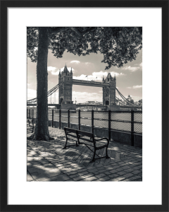 Tower Bridge and Bench by Assaf Frank