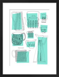Teapots & Jugs (blue) by Skinny laMinx