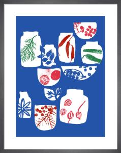 Spices and Herbs Blue by Ana Zaja Petrak