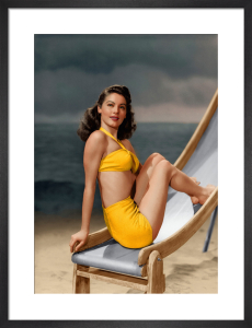 Ava Gardner 1945 by Hollywood Photo Archive