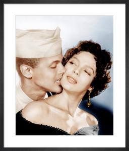 Harry Belafonte and Dorothy Dandridge (Carmen Jones) 1954 by Hollywood Photo Archive