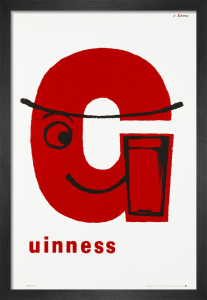 Guinness - 'G' Poster by Abram Games