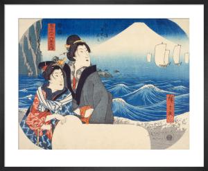 Mount Fuji at dawn by Utagawa Hiroshige