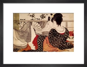 Lovers in an upstairs room by Kitagawa Utamaro