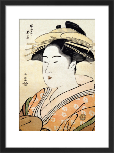 The Courtesan Hanaogi of Ogi-ya by Katsukawa Shunsho