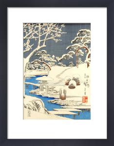 Garden scene in snow by Utagawa Kunisada and Utagawa Hiroshige