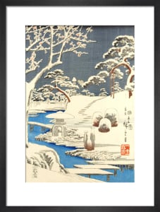 Garden scene in snow by Utagawa Kunisada and Utagawa Hiroshige