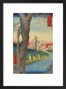 Koganei in Musashi Province by Utagawa Hiroshige I