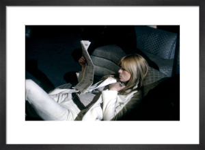 Nico reclines, The Factory NYC, 1966 by Nat Finkelstein