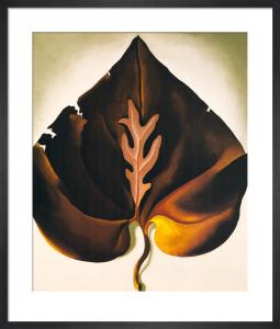 Dark and Lavender Leaf, 1931 by Georgia O'Keeffe
