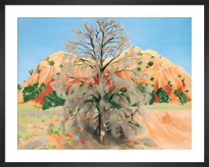 Dead Tree with Pink Hill, 1945 by Georgia O'Keeffe
