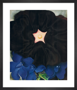Black Hollyhock, Blue Larkspur, 1929 by Georgia O'Keeffe