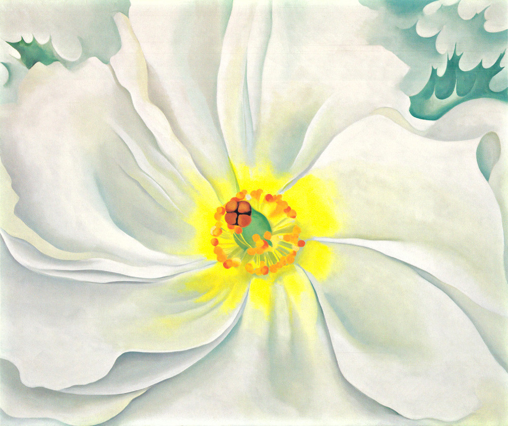 White flower 1929 art print by georgia okeeffe king mcgaw white flower 1929 mightylinksfo