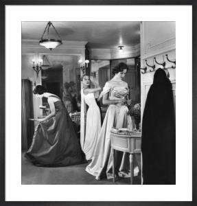 Vogue December 1956 by Eugene Vernier