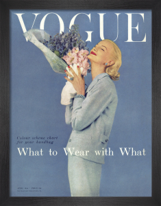Vogue April 1955 by Karen Radkai