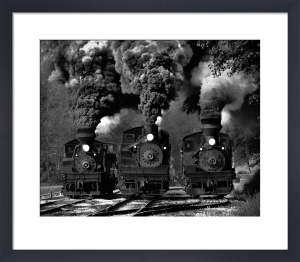 Train Race by Chuck Gordon
