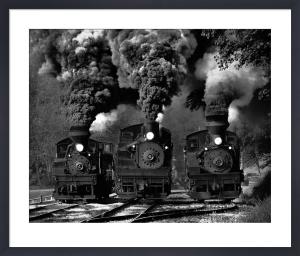 Train Race by Chuck Gordon