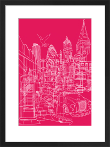 London - Pink by David Bushell