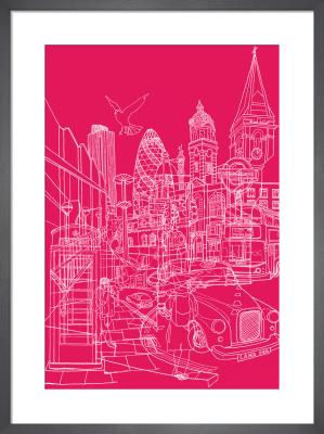 London - Pink by David Bushell