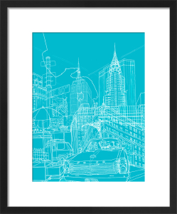 New York - Blueprint by David Bushell