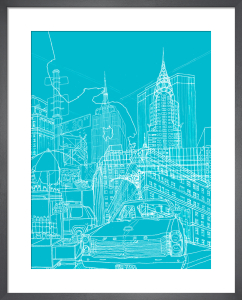 New York - Blueprint by David Bushell