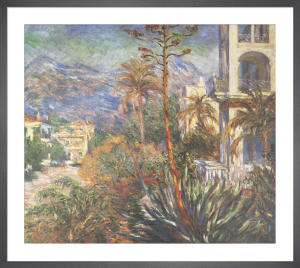 Village with Mountains and Agave Plant by Claude Monet