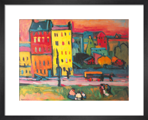 Houses in Munich by Wassily Kandinsky
