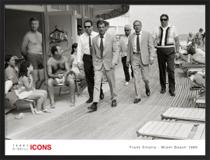 Frank Sinatra - Miami Beach 1968 by Terry O'Neill