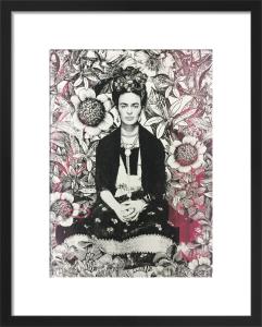 Flowered Frida by Adeline Meilliez