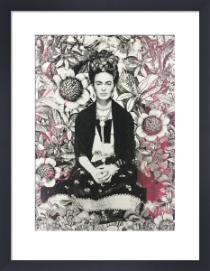 Flowered Frida by Adeline Meilliez
