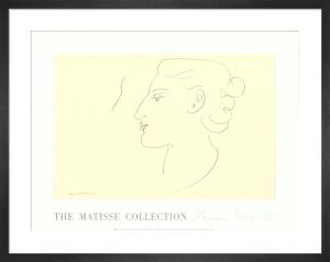 Womans Profile (left) by Henri Matisse