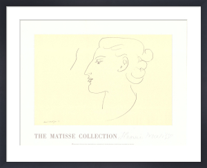 Womans Profile (left) by Henri Matisse