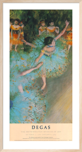 The Green Dancer (Dancers on the Stage) by Edgar Degas