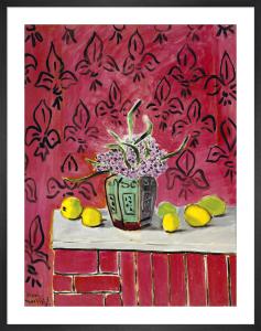 Citrons sur Fond Rose Fleurdelise, 1943 by Henri Matisse
